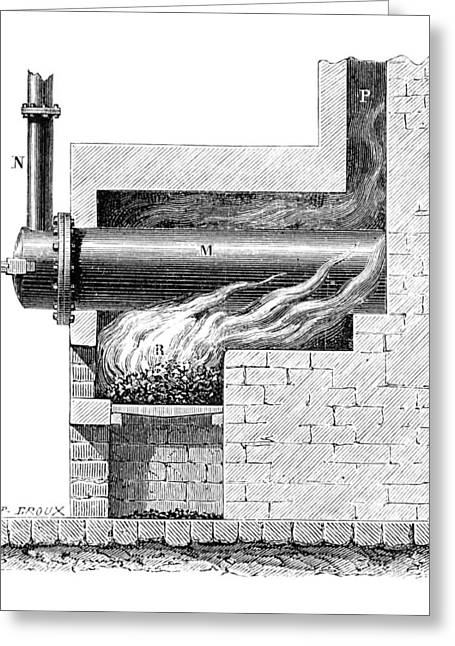 19th Century Furnace For Gas Lighting Greeting Card