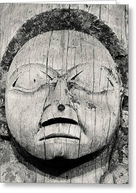 19th Century Totem Pole Greeting Card by Marion McCristall