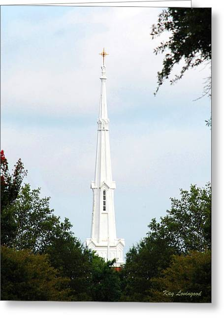 1st Christian Steeple Greeting Card