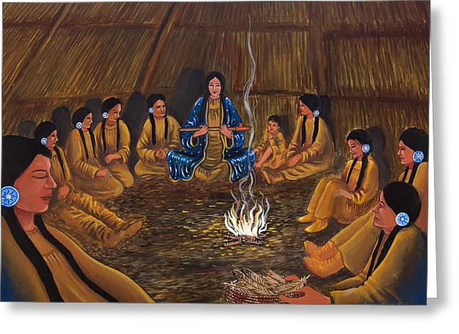 1st Pipe Ceremony Greeting Card