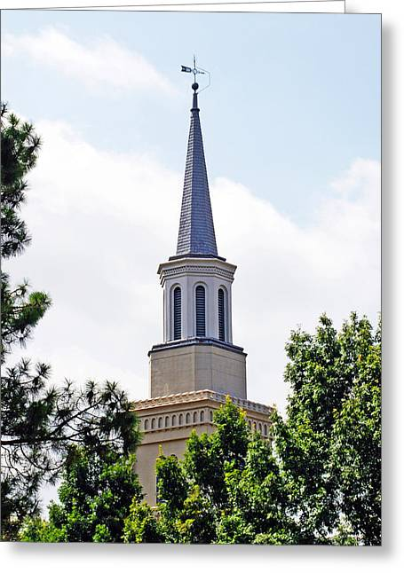 Greeting Card featuring the photograph 1st Presbyterian Steeple by Kay Lovingood