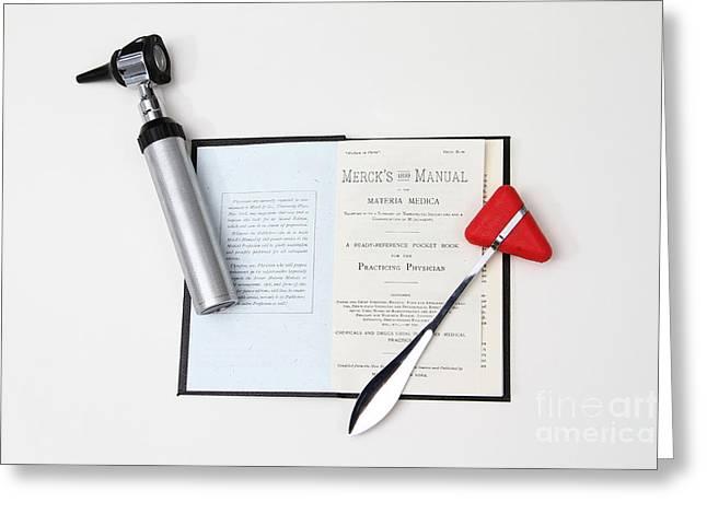 1899 Mercks Manual And Medical Equipment Greeting Card