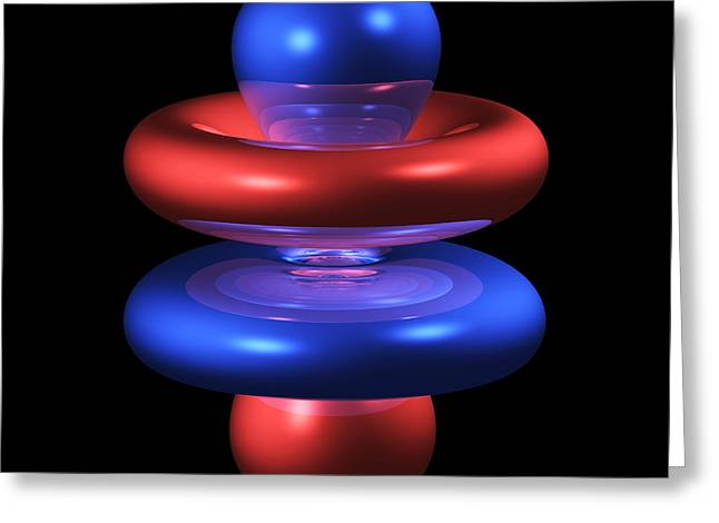 4fz3 Electron Orbital Greeting Card by Dr Mark J. Winter