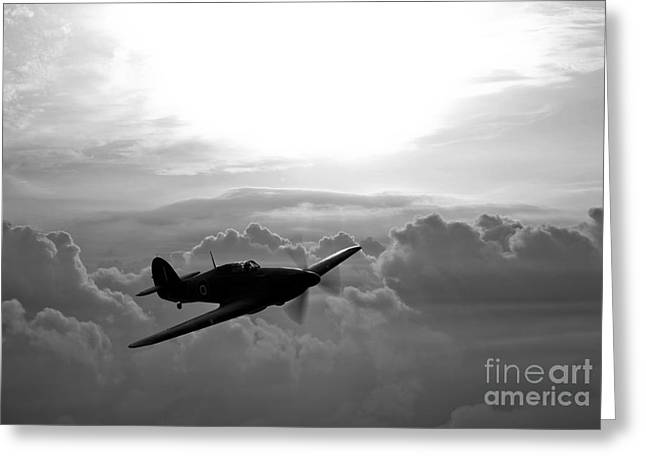 A Hawker Hurricane Aircraft In Flight Greeting Card