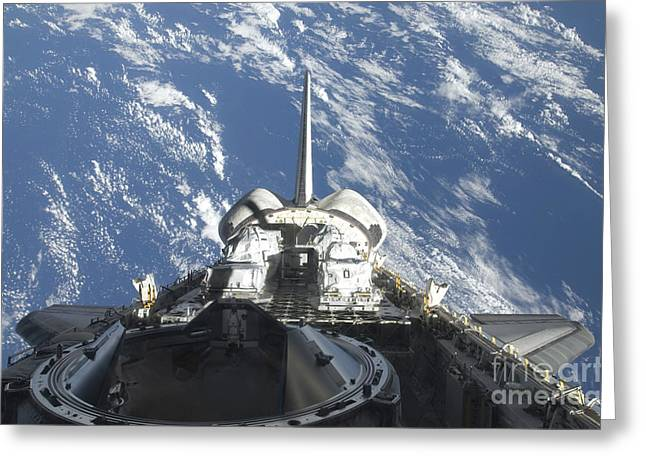 A Partial View Of Space Shuttle Greeting Card by Stocktrek Images