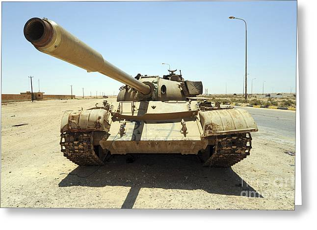 A T-55 Tank Destroyed By Nato Forces Greeting Card