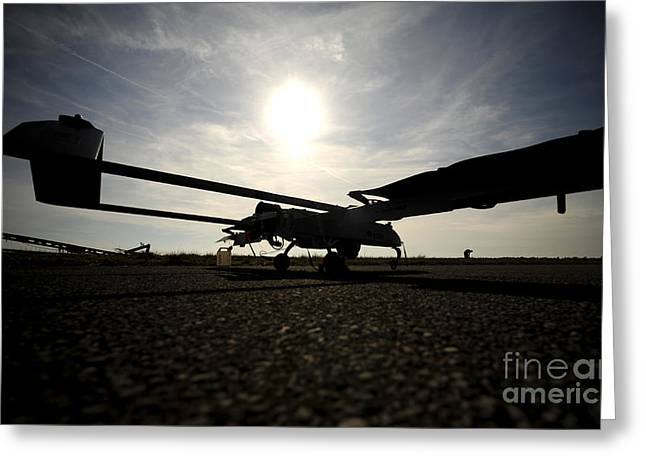 A U.s. Army Rq-7b Shadow Unmanned Greeting Card by Stocktrek Images