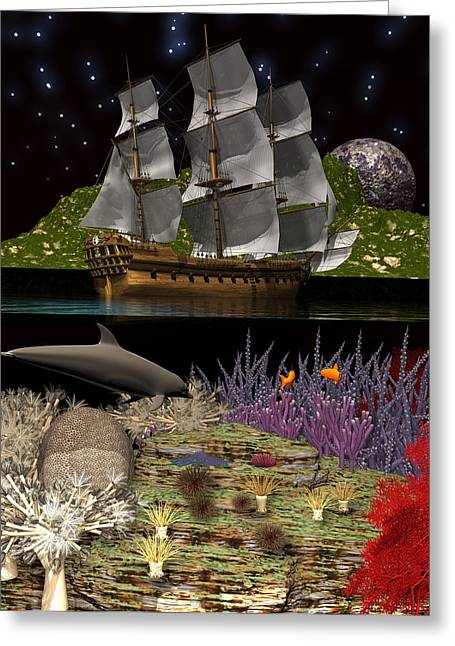 Above And Below Greeting Card by Claude McCoy