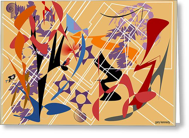 Abstract 1 Greeting Card by Gary Kennedy