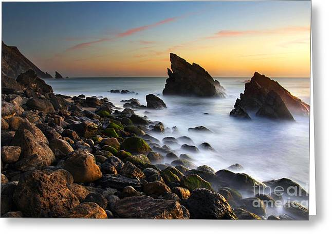 Adraga Beach Greeting Card by Carlos Caetano