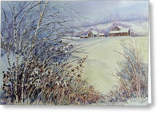 After The Snowfall Greeting Card by Louise Peardon