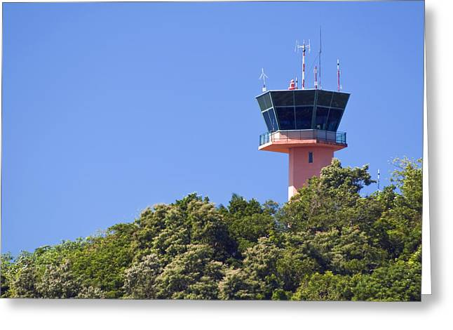 Airport Control Tower. Greeting Card
