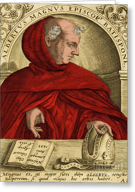 Albertus Magnus, Medieval Philosopher Greeting Card by Science Source