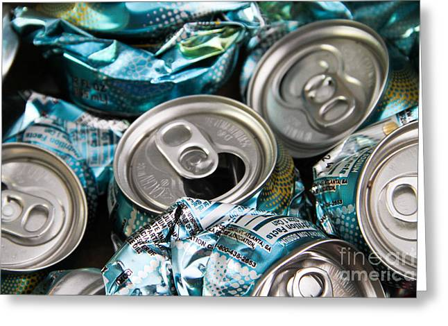 Aluminum Cans For Recycling Greeting Card