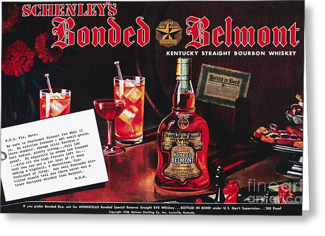 American Whiskey Ad, 1938 Greeting Card by Granger