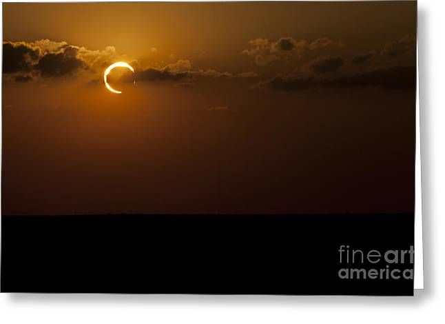 Annular Solar Eclipse Greeting Card by Phillip Jones
