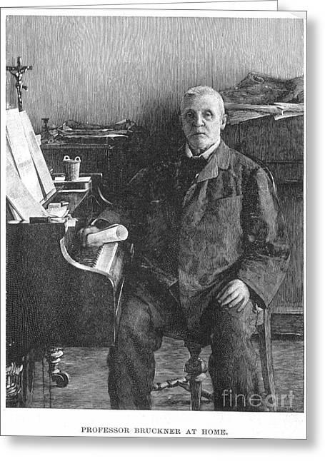 Anton Bruckner (1824-1896) Greeting Card by Granger