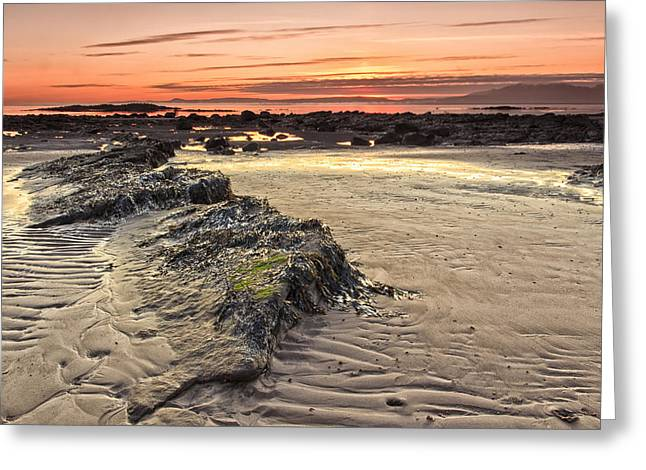 Ardrossan Sunset Greeting Card by Fiona Messenger