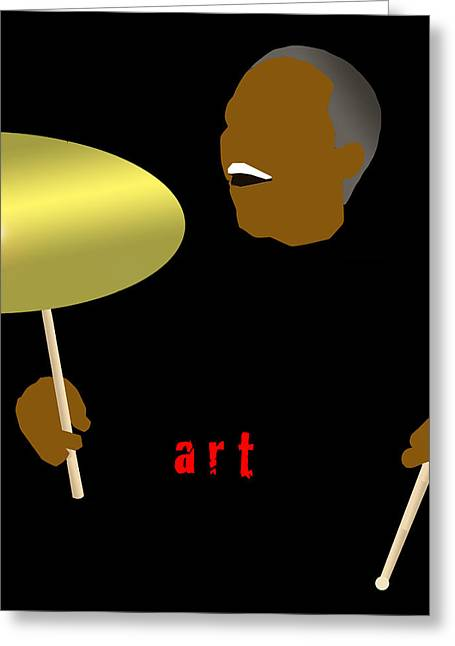 Art Blakey Greeting Card by Victor Bailey