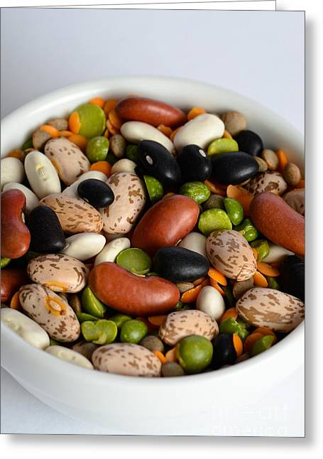 Assortment Of Beans And Lentils Greeting Card
