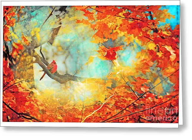 Autumn Cardinal Greeting Card
