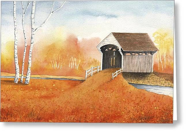 Autumn Color Greeting Card by Greg Dolan