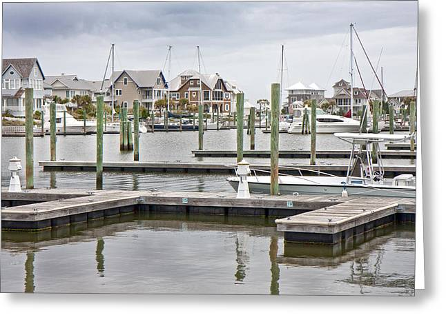 Bald Head Island Marina  Greeting Card by Betsy Knapp