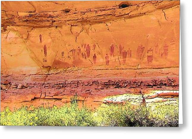 Barrier Canyon Style Rock Art Greeting Card