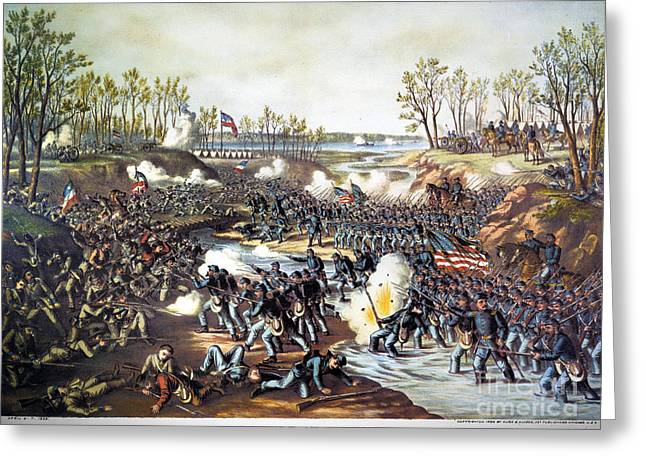 Battle Of Shiloh, 1862 Greeting Card