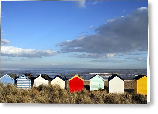 Greeting Card featuring the photograph Beach Huts by David Harding