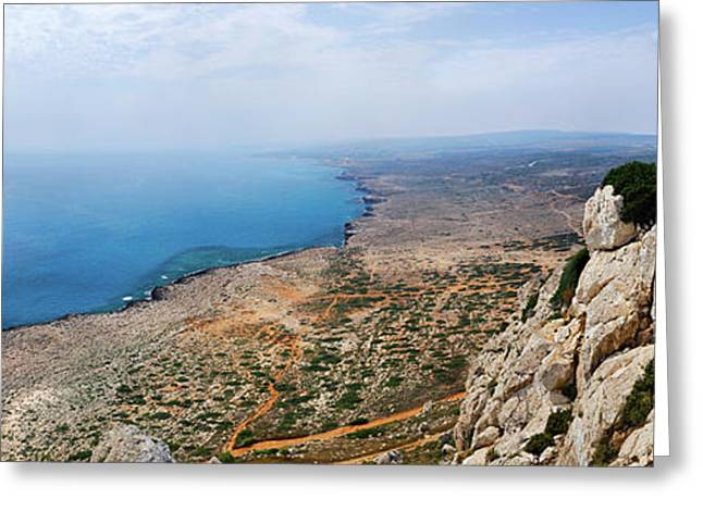 Beautiful View On Mediterranean Sea From Cape Gkreko In Cyprus Greeting Card by Oleksiy Maksymenko