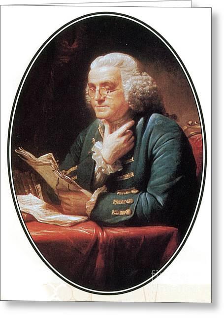 Benjamin Franklin, American Polymath Greeting Card