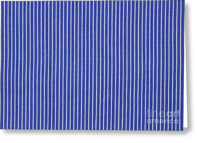 Blue And White Stripes Greeting Card by Blink Images