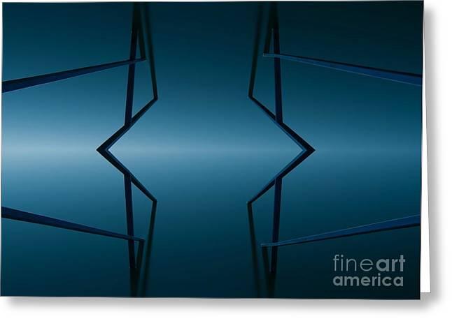 Blue Reflection Greeting Card by Odon Czintos
