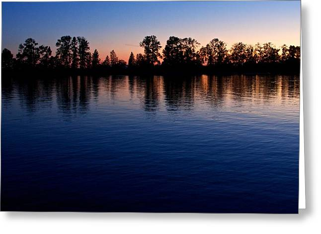 Greeting Card featuring the photograph Blue Sunset by Scott Holmes