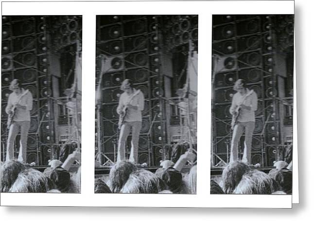Bob Weir Grateful Dead 74 Dsm Ia Greeting Card by Tim Donovan
