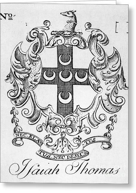 Bookplate, 18th Century Greeting Card by Granger