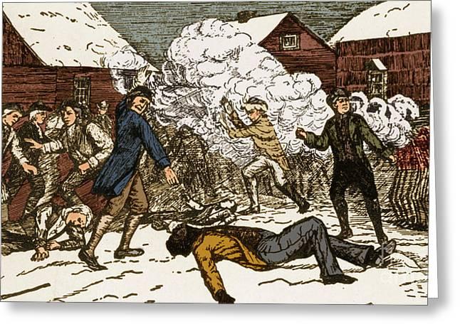 Boston Massacre, 1770 Greeting Card by Photo Researchers