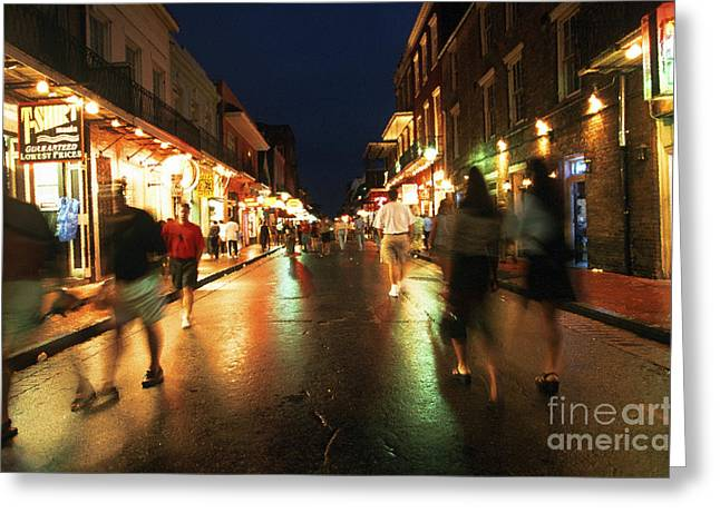 Bourbon Street At Dusk Greeting Card by Thomas R Fletcher