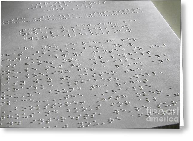 Braille Greeting Card by Photo Researchers, Inc.