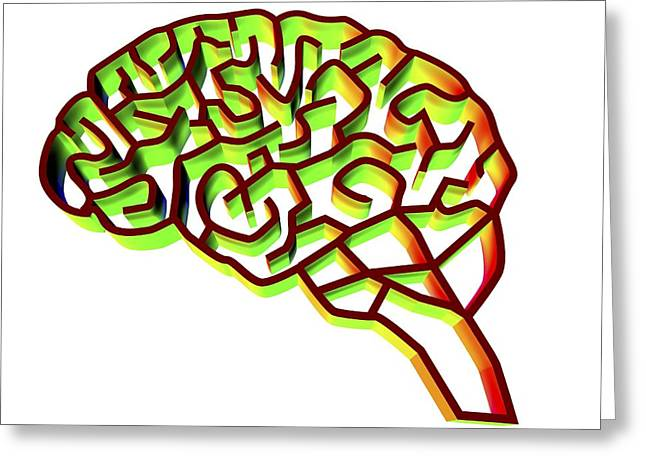 Brain Complexity, Conceptual Artwork Greeting Card by Pasieka