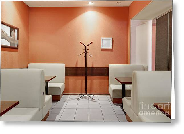 Cafe Dining Room Greeting Card by Magomed Magomedagaev