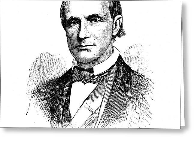 Caleb Cushing (1800-1879) Greeting Card by Granger