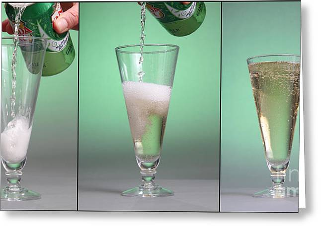 Carbonated Drink Greeting Card by Photo Researchers, Inc.