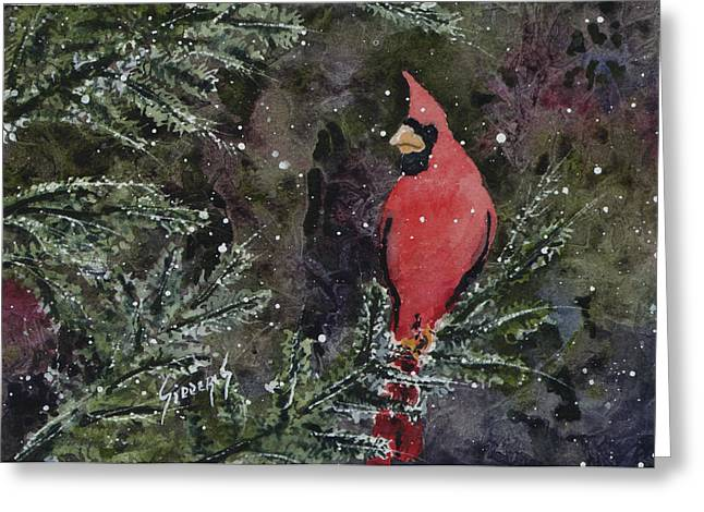 Cardinal Greeting Card by Sam Sidders