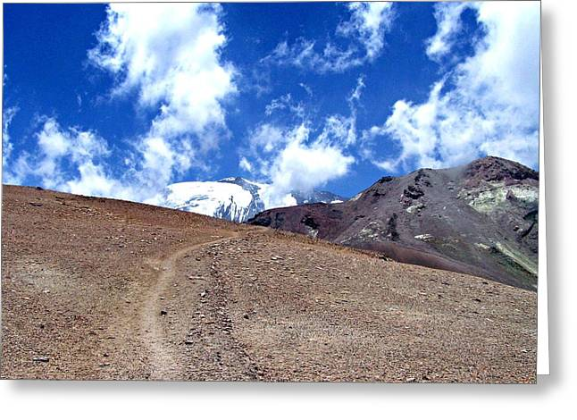 Cerro El Pintor Chile Greeting Card