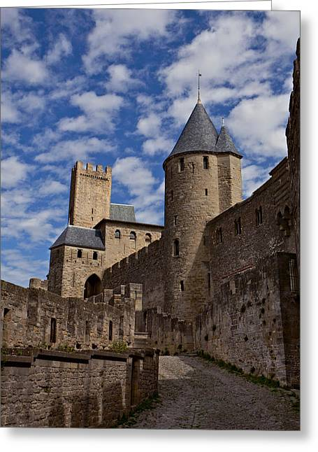 Chateau Comtal Of Carcassonne Fortress Greeting Card by Evgeny Prokofyev