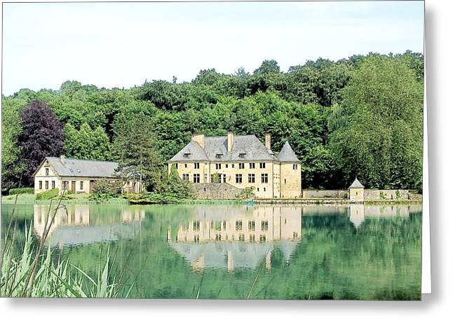 Chateau Du Lac Orval Belgium Greeting Card