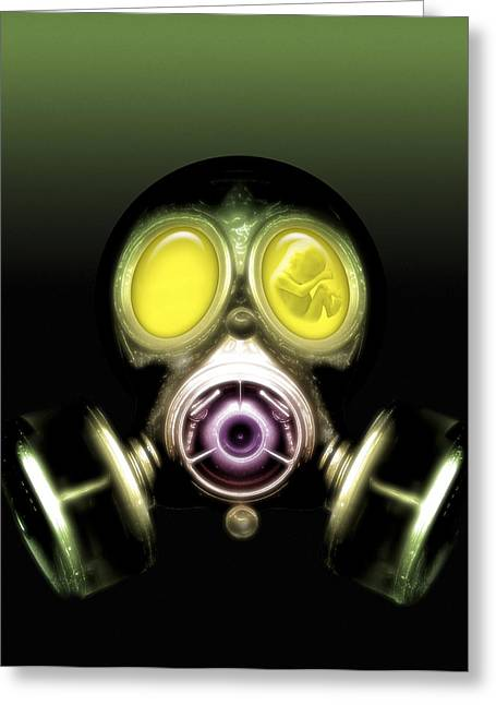 Chemical Warfare, Conceptual Artwork Greeting Card by Victor Habbick Visions