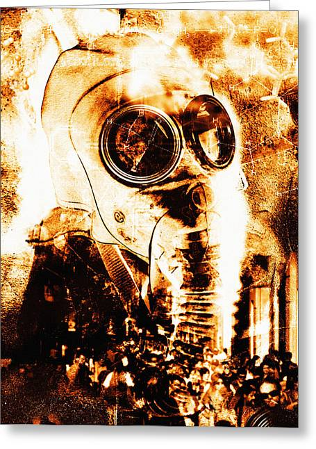 Chemical Warfare Greeting Card by Mehau Kulyk